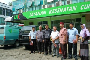 Pengurus Masjid Darussalam Kota Wisata di LKC